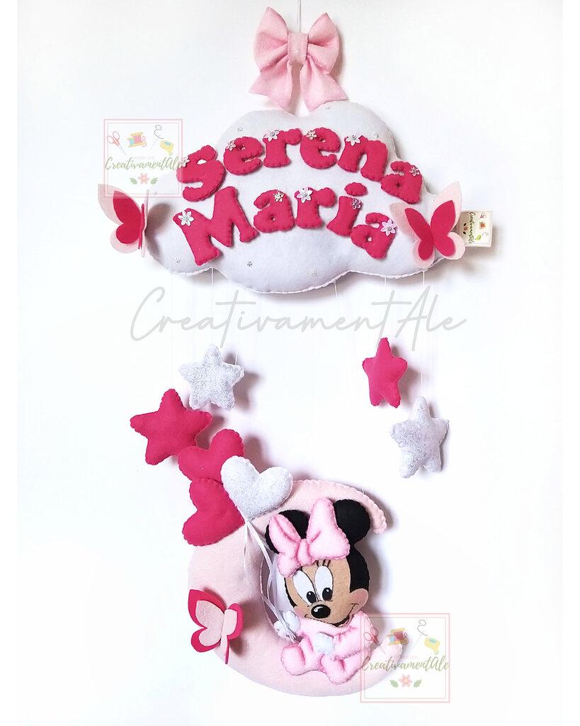 Fiocco nascita - Minnie