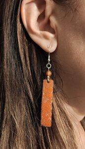 Orecchini pendenti arancioni