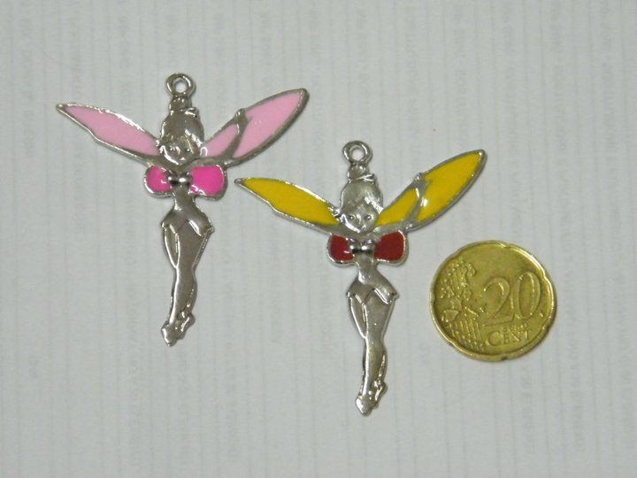 Charm silver e rosa Trilly