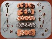 Fermacapelli in fimo con biscotti fermagli