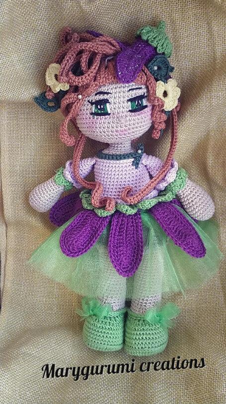 amigurumi bambola fata