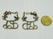 Charm Hello kitty oro anticato