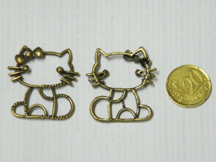Charm Hello kitty oro anticato