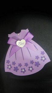scatolina portaconfetti - abito personalizzato