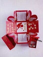Scatola explosion box San Valentino
