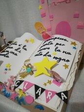 Torta scenografica libro Favole Compleanno Idea regalo Pirati Principessa Glitter