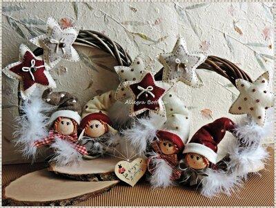 Cartamodello ghirlanda elfi della neve