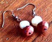 Orecchini goldstone e perla 2