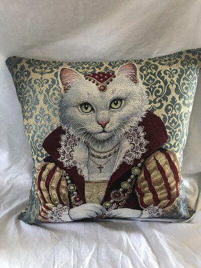 """Cuscino gatto """"aristocratico"""""""