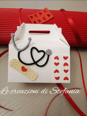 12 scatoline portaconfetti Laurea medicina