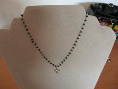 girocollo catena rosario con ciondolo croce