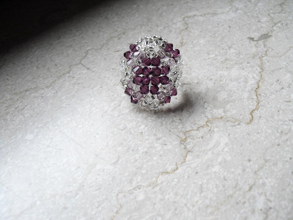anello swarovski ametista