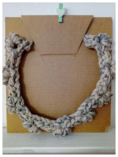 Collana colletto in fettuccia di cotone