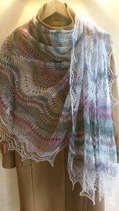 velo di lana, scialle sottile, scialle, scielle di lana, scialle caldo, aggiornato, mantellina, lana di capra, multicolore, sciarpa, un regalo per lei