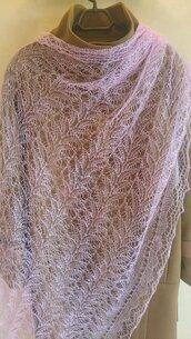 velo di lana, scialle sottile, scialle, scielle di lana, scialle caldo, aggiornato, mantellina, lana di capra, colore lilla, sciarpa, un regalo per lei