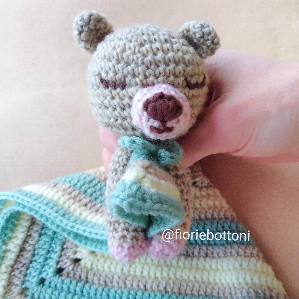 Martino Sonnellino, Doudou orsetto per neonato in lana morbissima