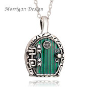 Collana Hobbit Signore degli Anelli Lord of the rings Locket Verde