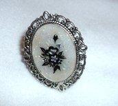 anello crystal cameo fiori swarovski
