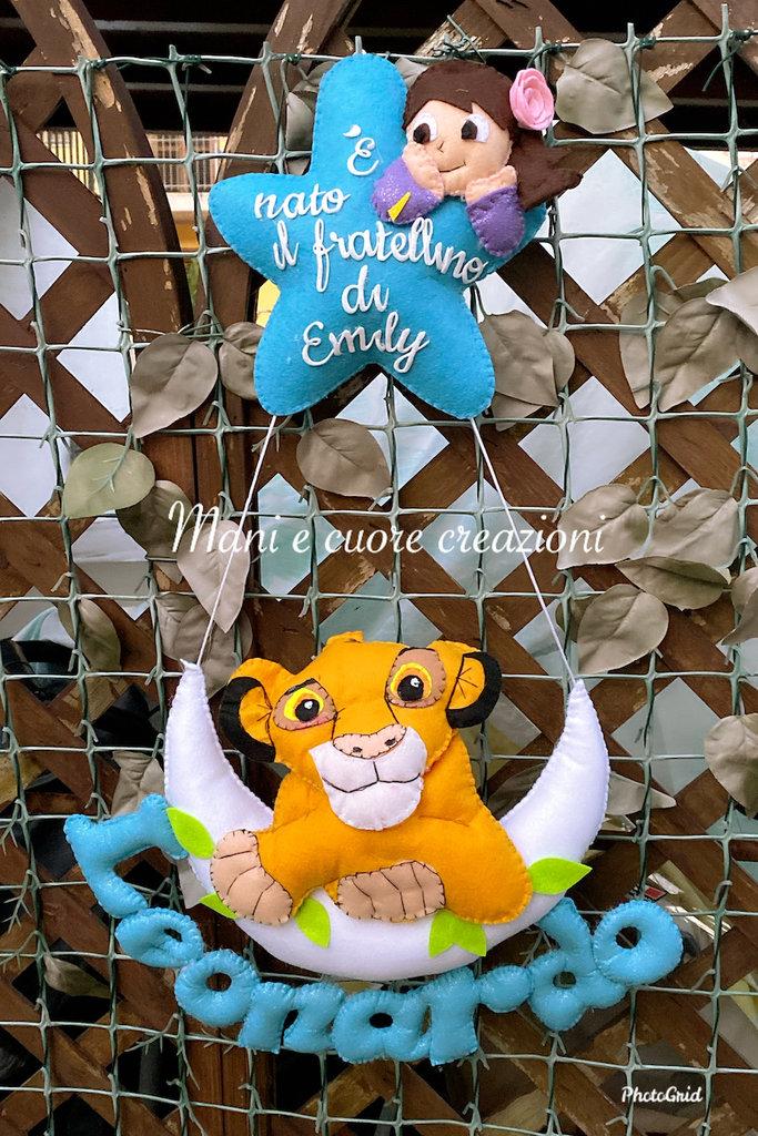 Fiocco Nascita Re Leone Simba ❤️È nato il fratellino di Emily