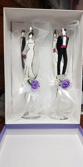 Calici sposi personalizzati
