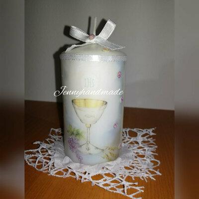 Candela comunione candele con stampa personalizzabile
