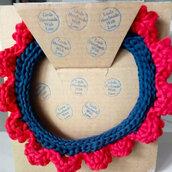 Collana colletto in fettuccia cotone