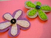 mollette fiore viola