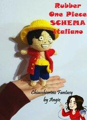 SCHEMA ITALIANO One Piece - Cappello di Paglia- Rubber- Monkey D. Luffy