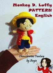 PATTERN ENGLISH One Piece - Rubber- Monkey D. Luffy
