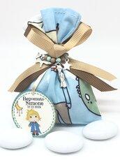 Bomboniera completa Piccolo Principe, bomboniera nascita Battesimo, Comunione. Sacchetto confetti, bigliettino confetti