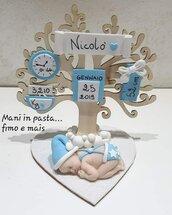 Albero della vita con bebè in fimo