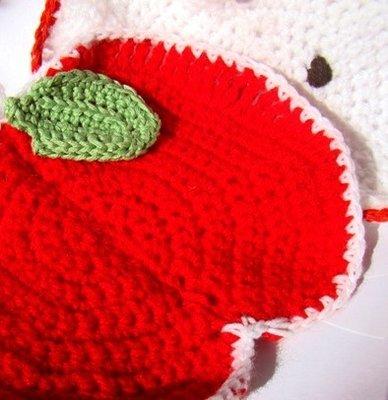 Crochet Apple Potholders