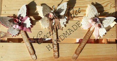 Segnalibro con farfalla- fatto a mano