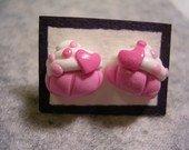 orecchini muffin rosa