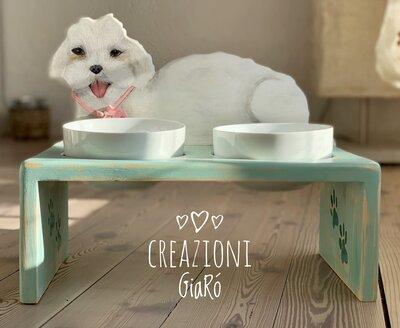 Porta ciotole per cani  personalizzabile