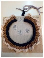 Collana colletto in fettuccia di cotone e lycra