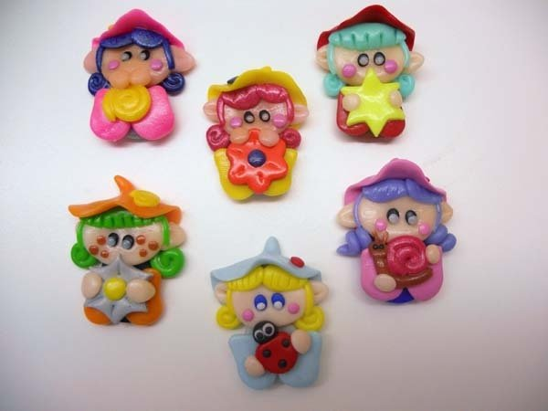 "CHARMS IN FIMO PER BOMBONIERE ""I FOLLETTI DEL BOSCO"""