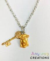 Collana con chiave e serratura fatta a mano