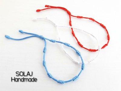 Offerta di tre singoli braccialetti Minimalisti di colore Blu/rosso/bianco - WSB01