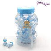Maxi biberon con 30 biberon per confetti, nascita/battesimo