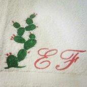 Asciugamani dipinte fico d'india