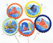 10 CUPCKAKES TOPPER - Le avventure di Dory - Nemo