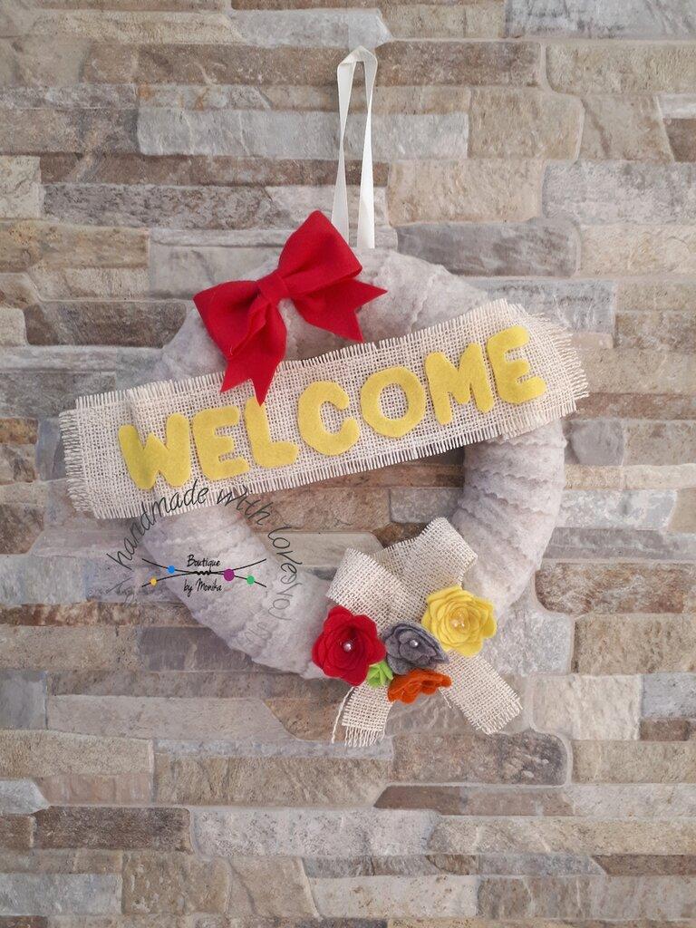 Ghirlanda fuoriporta welcome benvenuti