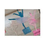 ballerina in feltro con nome da appendere come decorazione porta o parete cameretta