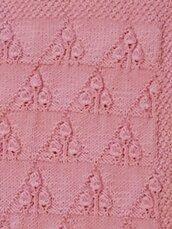Copertina in lana rosa babè