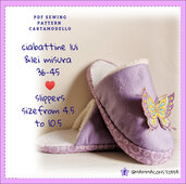 cartamodello pantofole ciabatte adulto da misura 36 a 45