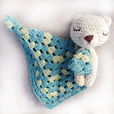Doudou Fioccodineve, orsetto in cotone per neonato