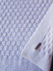 """Copertina neonato """"Snowfall"""" in lana bianca fatta a mano"""