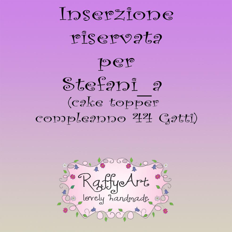 Inserzione riservata per Stefani_a