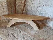 Tavolo surf, tavolo in legno di rovere, coffee table, tavolo basso in rovere